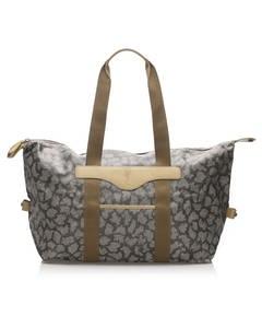 Ysl Printed Pvc Tote Bag Gray