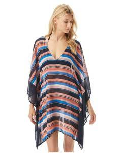 Strandtunika Swimwear Large Stripe V-Neck