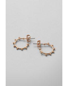 Tiny Dot Hoop Earrings Golden