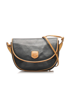 Celine Leather Crossbody Bag Black