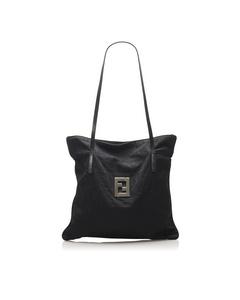 Fendi Zucca Canvas Tote Bag Black