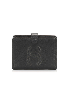 Chanel Cc Caviar Leather Wallet Black