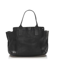 Chloe Allison Leather Tote Bag Black