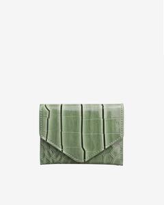 Wallet Croco Dusty Green