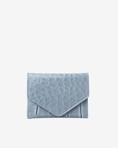 Wallet Croco Dusty Blue