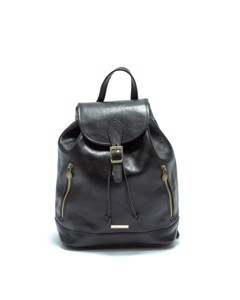 Leather Backpack Nero