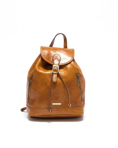 Leather Backpack Cognac