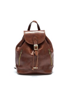 Leather Backpack Marrone