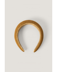 Puffy Velvet Hair Hoop Ochre