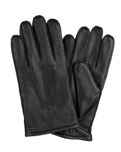 Men's Glove Sheepskin Points Black