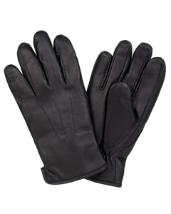 Men's Glove Sheepskin Precurved Black