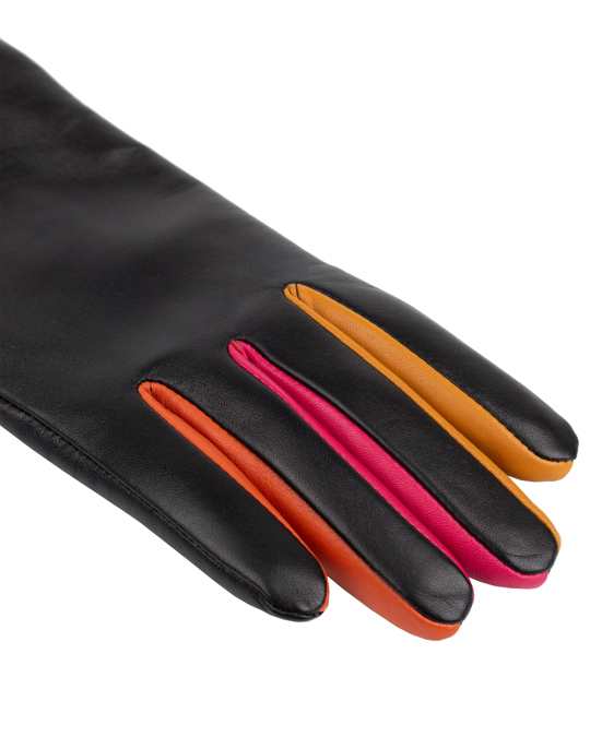 Handskkompaniet Ladies Glove Sheepskin Side Vent Black/multi