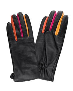 Ladies Glove Sheepskin Side Vent Black/multi