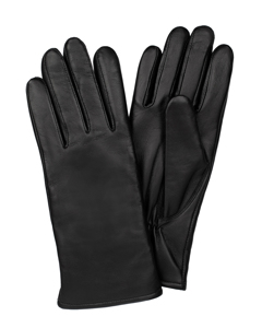 Ladies Glove Sheepskin Touch Smooth Black