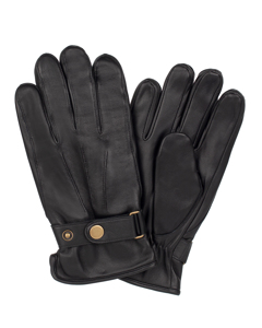 Men's Glove Sheepskin Strap Precurved Black