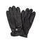 Men's Glove Sheepskin Strap Precurved Black
