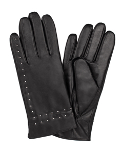 Ladies Glove Goatskin/silver Studs Black