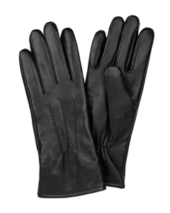Ladies Glove Sheepskin Touch Points Black