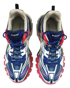 Track.2 Sneakers In Blue And Red