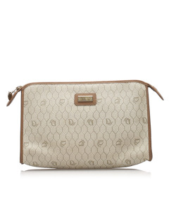 Dior Honeycomb Pvc Clutch Bag Brown