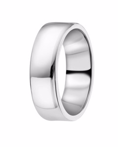 Zilveren Ring Glad 6mm