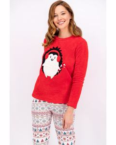 Winter Porky Penguen Pajama Set