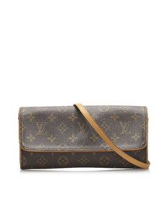Louis Vuitton Monogram Pochette Twin Gm Brown