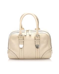 Gucci Leather Boston Bag White