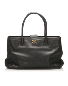 Chanel Executive Cerf Caviar Leather Tote Bag Black