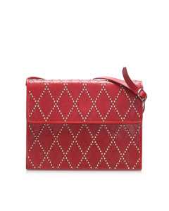 Ysl Studded Leather Crossbody Bag Red