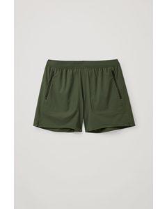 Technical Running Shorts Forest Green