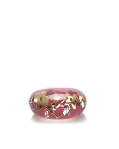Louis Vuitton Resin Crystal Inclusion Ring Pink