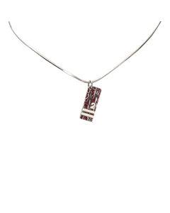 Dior Dior Oblique Trotter Pendant Necklace Red