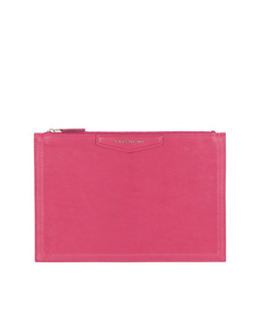 Givenchy Antigona Leather Clutch Bag Pink