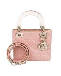 Dior Mini Cannage Lady Dior Nylon Satchel Pink