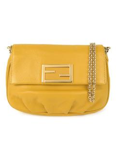 Fendi Fendista Leather Crossbody Bag Yellow