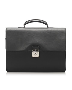 Louis Vuitton Taiga Robusto 1 Briefcase Black