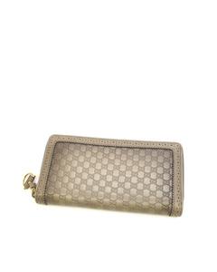 Gucci Microguccissima Horsebit Long Wallet Gray