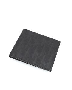 Dior Dior Oblique Canvas Wallet Black