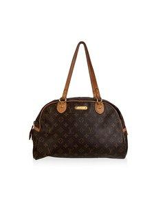 Louis Vuitton Brown Monogram Canvas Montorgueil Gm Bowler Bag