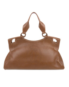 Cartier Marcello De Cartier Leather Handbag Brown