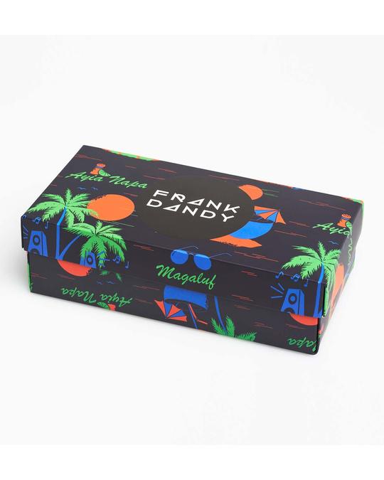 Frank Dandy 3-pack Sock Box  Black Magaluf