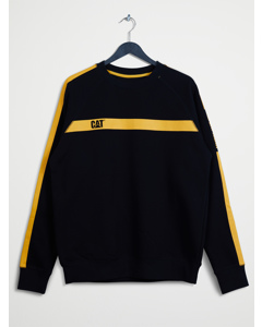 Icon Stripe Crew Neck Black/yellow