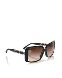Chanel Square Tinted Sunglasses Black