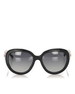 Chanel Round Tinted Sunglasses Black