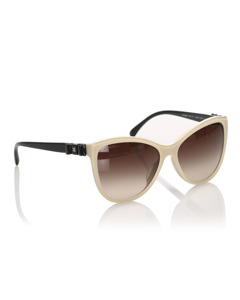 Chanel Cat Eye Tinted Sunglasses Brown