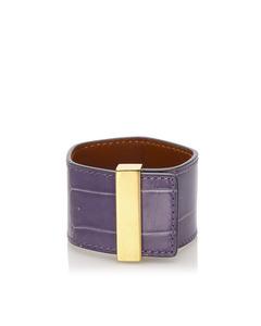 Celine Leather Cuff Purple
