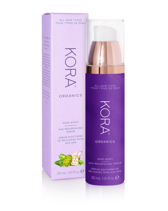 KORA Organics Noni Night Aha Resurfacing Serum Clear