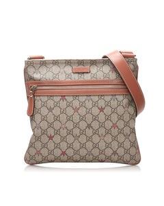 Gucci Gg Supreme Star Crossbody Bag Brown