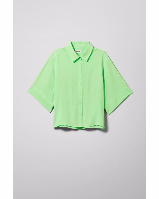 Weekday Hall Short Sleeve Shirt Bright Green